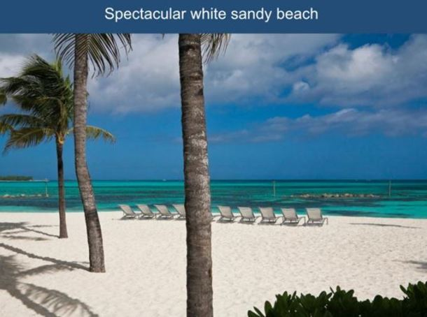 Bahamas all inclusive resort vacation for White sand beach vacations
