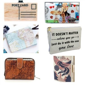 Travel Themed Clutches