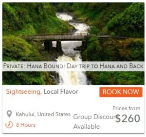 road to Hana waterfall tour